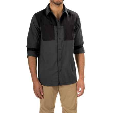 Mountain Hardwear Stretchstone Utility Shirt - Long Sleeve (For Men) in Shark - Closeouts