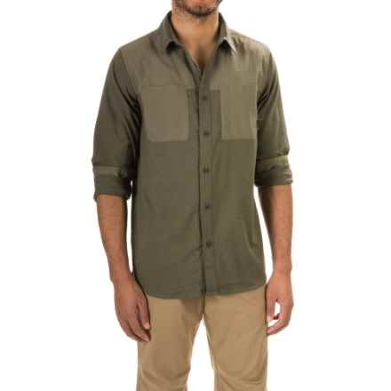 Mountain Hardwear Stretchstone Utility Shirt - Long Sleeve (For Men) in Stone Green - Closeouts