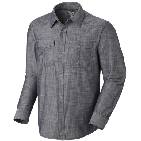 Mountain Hardwear Strickland Shirt - Long Sleeve (For Men) in Abyss