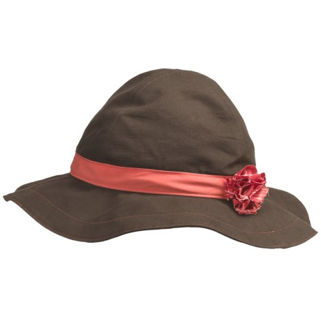Mountain Hardwear Sun Floppy Canvas Hat - UPF 50 (For Women) in Peat Moss