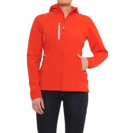 Mountain Hardwear Super Chockstone™ Hooded Jacket - UPF 50 (For Women) in Fiery Red - Closeouts