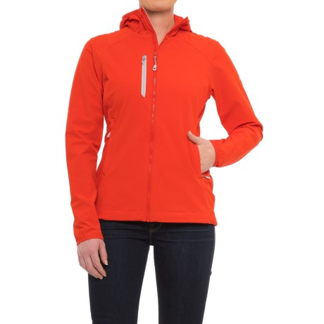 Mountain Hardwear Super Chockstone™ Hooded Jacket - UPF 50 (For Women) in Fiery Red