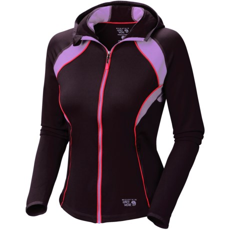 Mountain Hardwear Super Power Hoodie Jacket - Full Zip (For Women) in Dark Plum