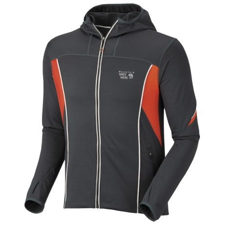 Mountain Hardwear Super Power Jacket (For Men) in Shark/Red Stripe