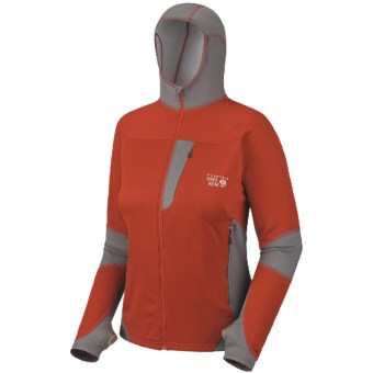 Mountain Hardwear Super Power Jacket - Polartec® Power Dry® (For Women) in Bonfire/Titanium