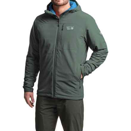 Mountain Hardwear Superconductor Hooded Jacket - Insulated (For Men) in Thunderhead Grey - Closeouts