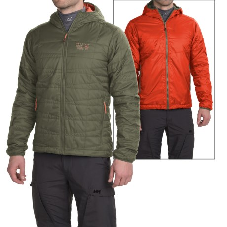 Mountain Hardwear Switch Flip Hooded Jacket - Reversible, Insulated (For Men)