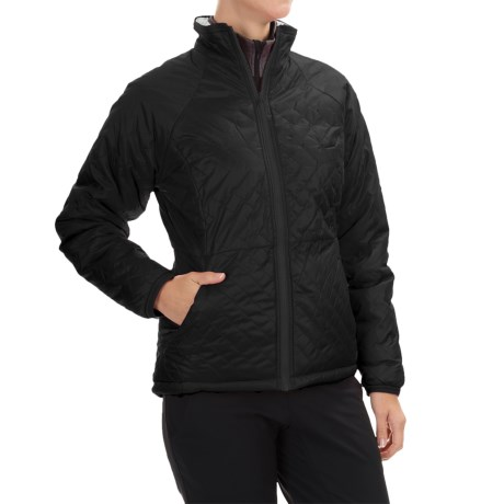 Mountain Hardwear Switch Flip Jacket - Insulated, Reversible (For Women) in Black, Graphite