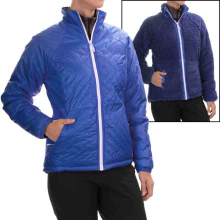 Mountain Hardwear Switch Flip Jacket - Insulated, Reversible (For Women) in Bright Bluet/Dynasty - Closeouts