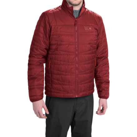 Mountain Hardwear Switch Flip Reversible Jacket - Insulated (For Men) in Smolder Red/Stone Green - Closeouts