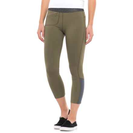 Mountain Hardwear Synergist Capri Tights - UPF 50 (For Women) in Stone Green - Closeouts