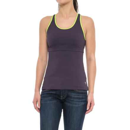 Mountain Hardwear Synergist Tank Top - UPF 50, Built-In Shelf Bra, Racerback (For Women) in Blurple - Closeouts