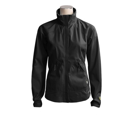 Mountain Hardwear Tempo Jacket - Windstopper® (For Women) in Black/Black