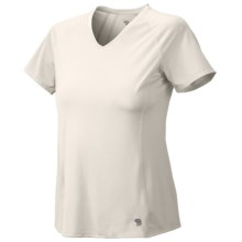 Mountain Hardwear Tephra Trek T-Shirt - UPF 50, Short Sleeve (For Women) in Sea Salt - Closeouts