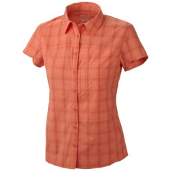 Mountain Hardwear Terralake Shirt - UPF 50, Short Sleeve (For Women) in Cool Wave