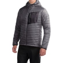 Mountain Hardwear Thermostatic Hooded Jacket - Insulated (For Men) in Shark/Black - Closeouts