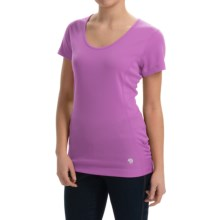 Mountain Hardwear Timica Shirt - Short Sleeve (For Women) in Blossom Pink - Closeouts