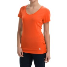 Mountain Hardwear Timica Shirt - Short Sleeve (For Women) in Navel Orange - Closeouts