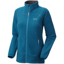 Mountain Hardwear Toasty Tweed Fleece Jacket (For Women) in Lagoon - Closeouts