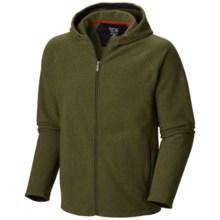 Mountain Hardwear Toasty Twill Fleece Hoodie - UPF 50, Full Zip (For Men) in Utility Green - Closeouts