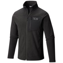 Mountain Hardwear Toasty Twill Fleece Jacket (For Men) in Black/Titanium - Closeouts