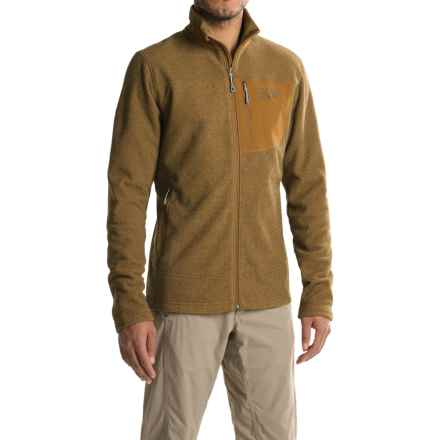 Mountain Hardwear Toasty Twill Fleece Jacket (For Men) in Golden Brown - Closeouts