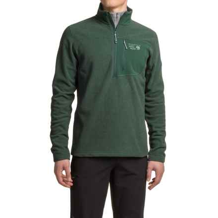 Mountain Hardwear Toasty Twill Jacket - Zip Neck, Fleece (For Men) in Dark Forest - Closeouts