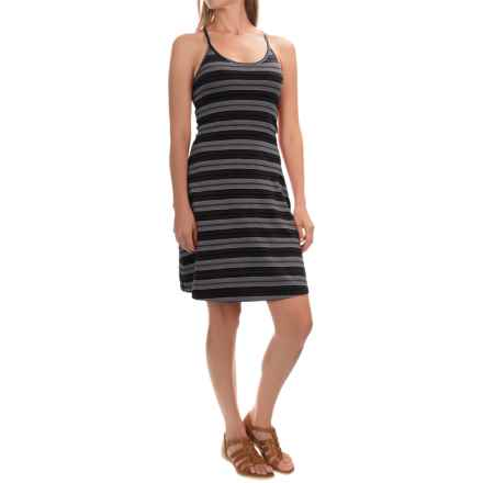 Mountain Hardwear Tonga Stripe Dress - V-Neck, Sleeveless (For Women) in Black - Closeouts