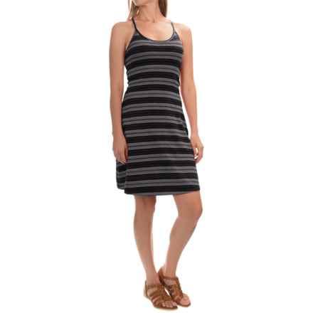 Mountain Hardwear Tonga Stripe Dress - V-Neck, Sleeveless (For Women) in Black - Closeouts