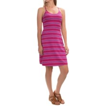Mountain Hardwear Tonga Stripe Dress - V-Neck, Sleeveless (For Women) in Bright Rose - Closeouts