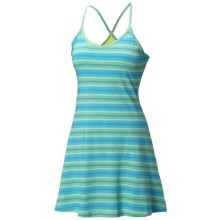 Mountain Hardwear Tonga Stripe Dress - V-Neck, Sleeveless (For Women) in Tippet - Closeouts