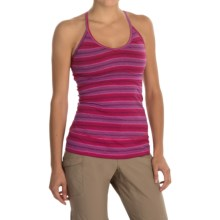 Mountain Hardwear Tonga Stripe Tank Top - Built-In Shelf Bra (For Women) in Bright Rose - Closeouts