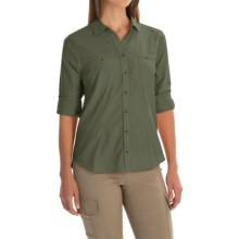 Mountain Hardwear Toralake Shirt - Button Front, Long Sleeve (For Women) in Verde - Closeouts