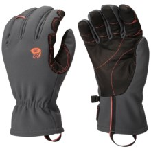 Mountain Hardwear Torsion Thermal.Q Elite Gloves - Insulated (For Men) in Shark/State Orange - Closeouts