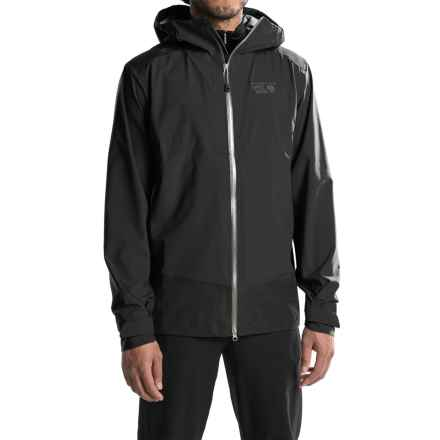 Mountain Hardwear Torzonic Dry.Q® Elite Hooded Jacket - Waterproof (For Men) in Black - Closeouts