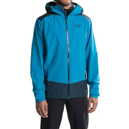 Mountain Hardwear Torzonic Hooded Jacket - Waterproof (For Men) in Dark Compass - Closeouts