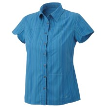 Mountain Hardwear Trailend Stripe Shirt - UPF 50, Stretch, Short Sleeve (For Women) in Skybox - Closeouts