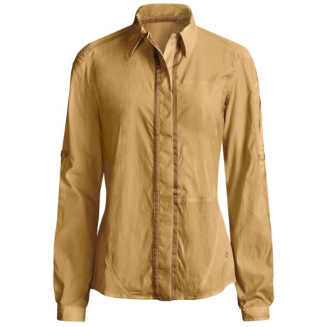 Mountain Hardwear Trailhead Shirt - UPF 25, Long Sleeve (For Women) in Gold Dust