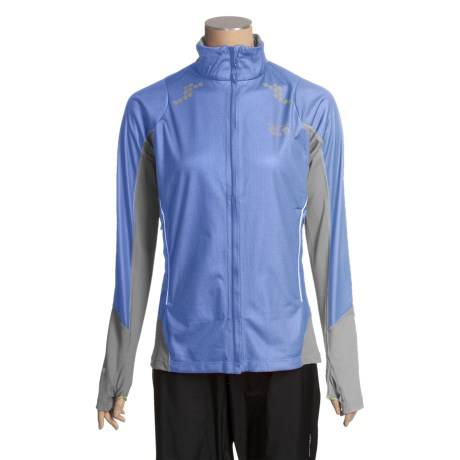 Mountain Hardwear Transition Super Power Jacket - Windstopper® (For Women) in Fresh Blue/Titanium