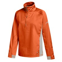 Mountain Hardwear Transition Windstopper® Pullover - Zip Neck (For Women) in Orange/Cool Grey - Closeouts