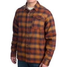 Mountain Hardwear Trekkin Flannel Shacket - UPF 50 (For Men) in Collegiate Navy - Closeouts