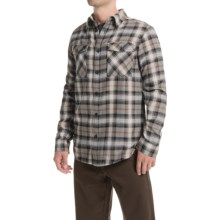 Mountain Hardwear Trekkin Flannel Shirt - Long Sleeve (For Men) in Chalk - Closeouts