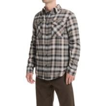 Mountain Hardwear Trekkin Flannel Shirt - Long Sleeve (For Men) in Chalk - Closeouts
