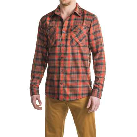 Mountain Hardwear Trekkin Flannel Shirt - Long Sleeve (For Men) in Fiery Red - Closeouts