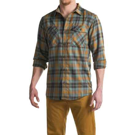Mountain Hardwear Trekkin Flannel Shirt - Long Sleeve (For Men) in Golden Brown - Closeouts
