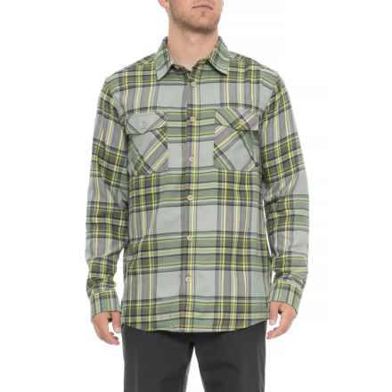 Mountain Hardwear Trekkin Flannel Shirt - Long Sleeve (For Men) in Green Fade - Closeouts