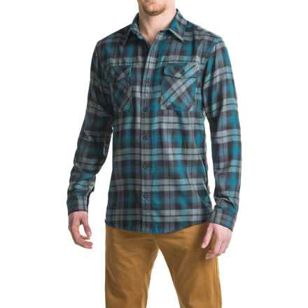 Mountain Hardwear Trekkin Flannel Shirt - Long Sleeve (For Men) in Phoenix Blue - Closeouts