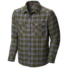 Mountain Hardwear Trekkin Flannel Shirt - Long Sleeve (For Men) in Utility Green - Closeouts