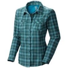 Mountain Hardwear Trekkin Flannel Shirt - Long Sleeve (For Women) in Sherwood - Closeouts