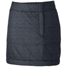 Mountain Hardwear Trekkin Printed Skirt - Insulated (For Women) in Black - Closeouts